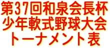 第37回和泉会長杯少年軟式野球大会トーナメント表